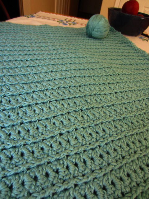 Crochet afghan progress right side-aug12