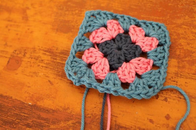 Crochet-granny-square-wip