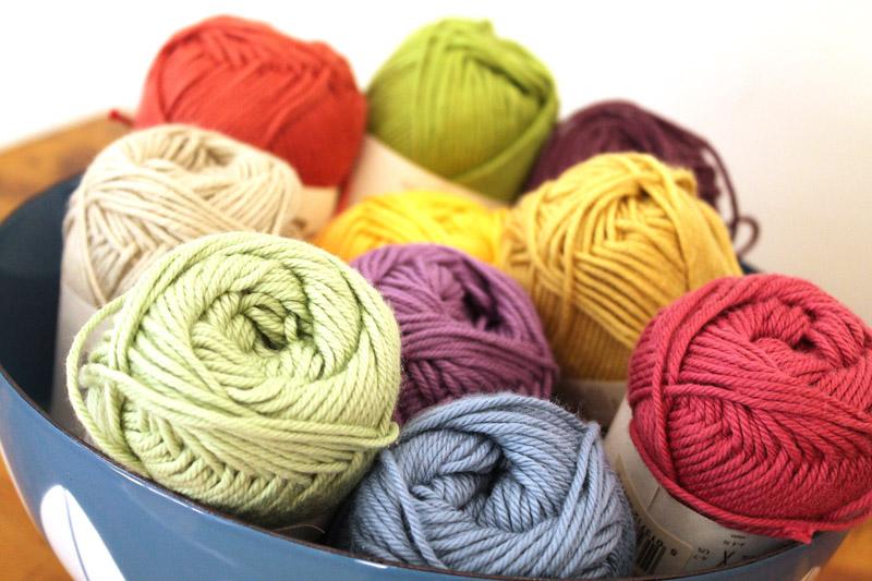 new rowan handknit cotton yarn for my crochet granny square blanket